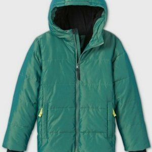 Boys' Puffer Jacket - All in Motion Black M